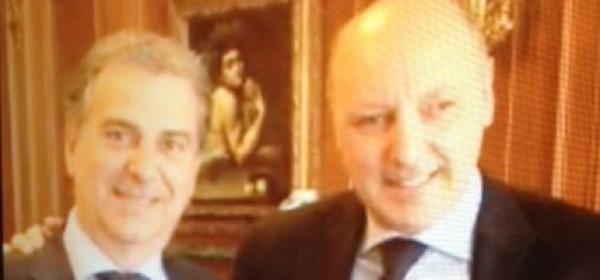 Il presidente Elio Gizzi insieme al dg bianconero Marotta