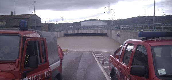 Il sottopasso di Mosciano durante l'alluvione