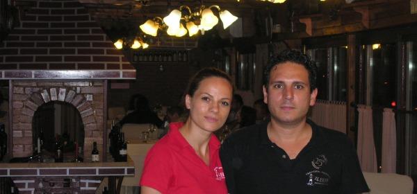 Berardo Tassoni con la moglie