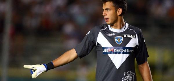 Nicola Leali con la maglia del Brescia