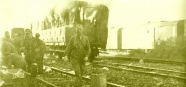 La stazione di Pescara nel 1943