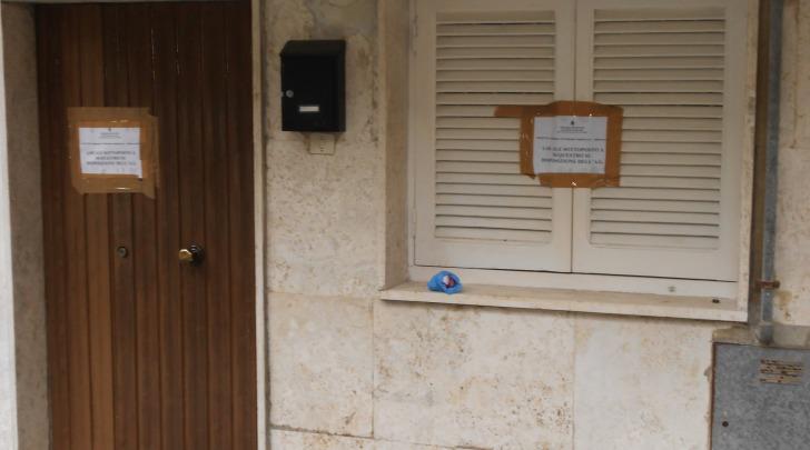 L'abitazione della vittima sotto sequestro