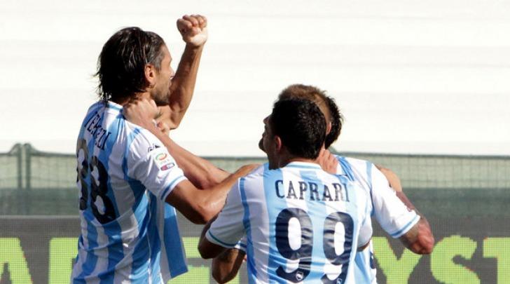 Terlizzi esulta dopo il gol al Cagliari