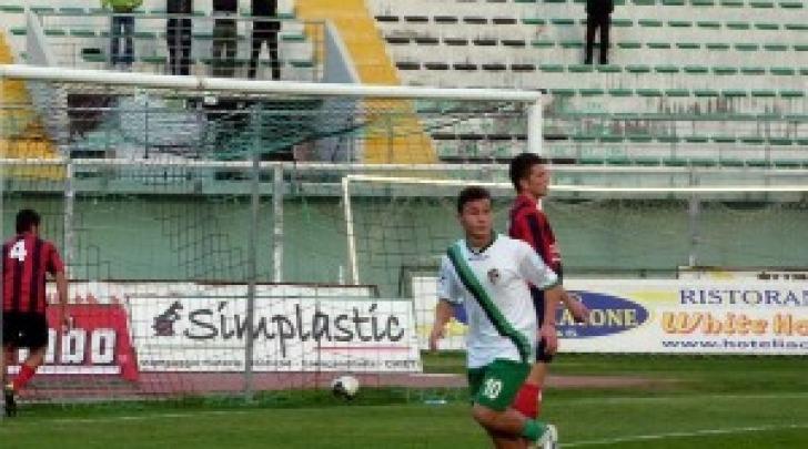 Riccardo Berardino con la maglia del Chieti