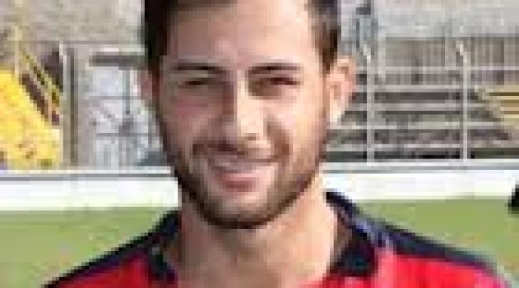 Andrea D'Amico, prima marcatura in rossoblù