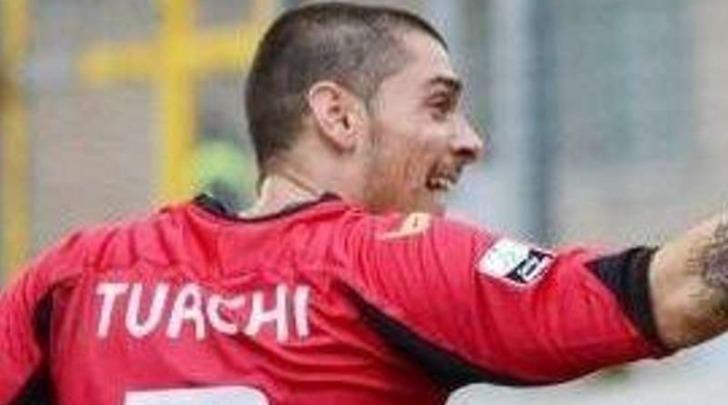 Manuel Turchi esulta dopo l'1-0