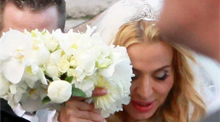 Valeria Marini il giorno delle nozze