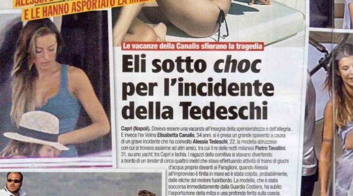 Elisabetta Canalis sotto choc per Alessia Tedeschi