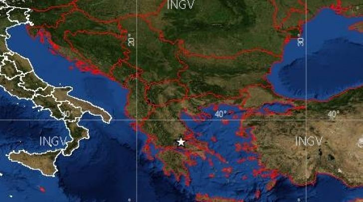Mappa Scossa sismica Grecia