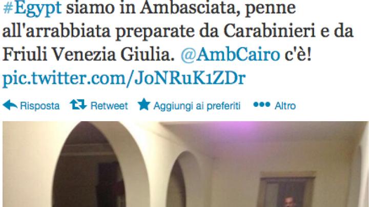 Twitter ambasciata egitto