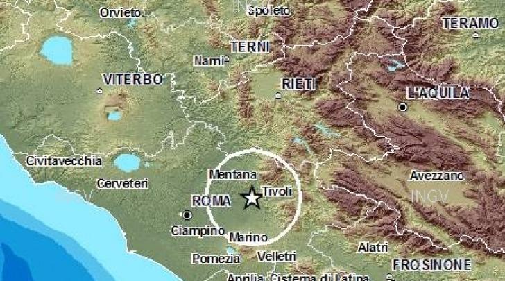 Scossa sismica Aniene - Roma