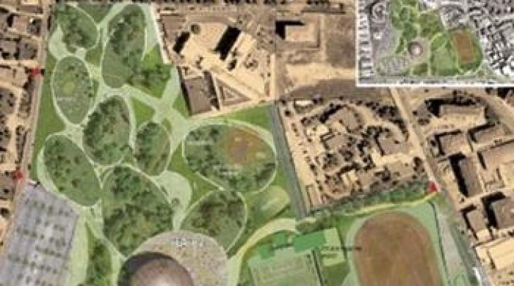 il progetto del parco di Piazza d'Armi