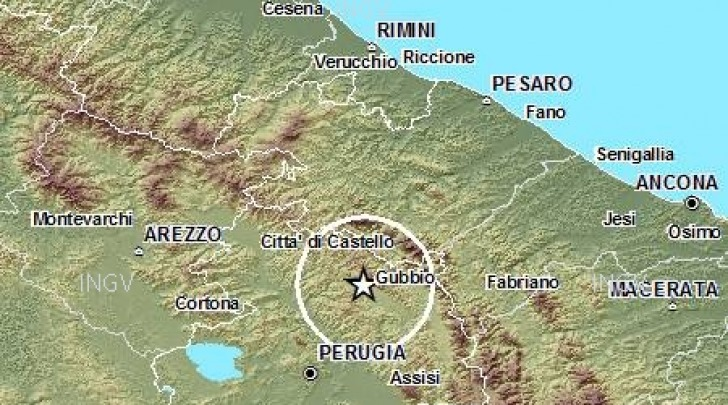 Terremoto Gubbio (Pg)
