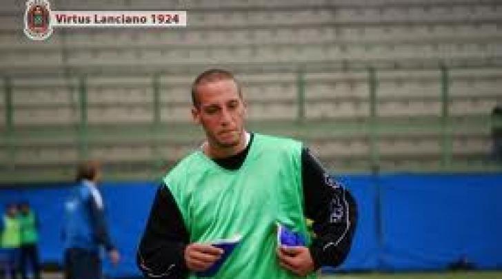 Giulio Daleno in allenamento con la Virtus Lanciano (2008/09)