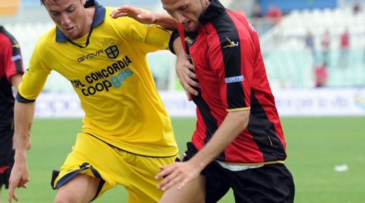 Federico Amenta, gol di nuca per il difensore rossonero