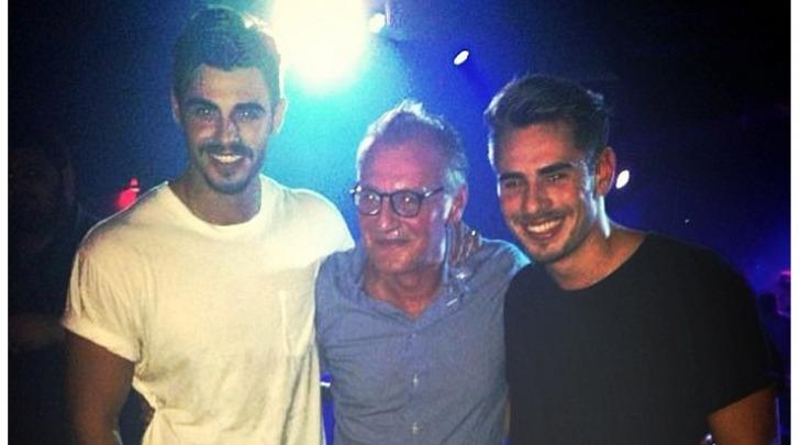 Francesco Monte e il papà Angelo
