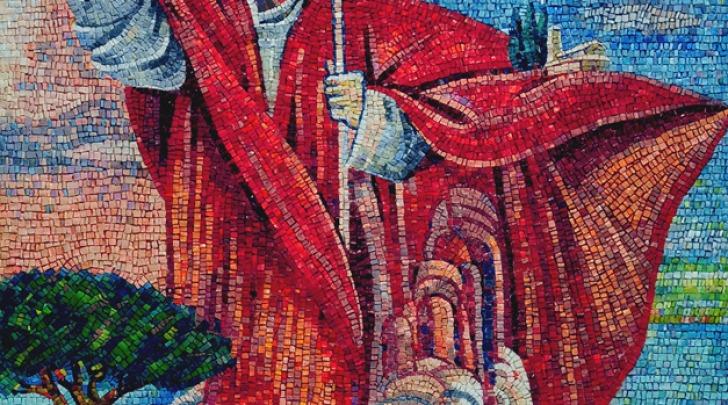 mosaico papa Woytjla