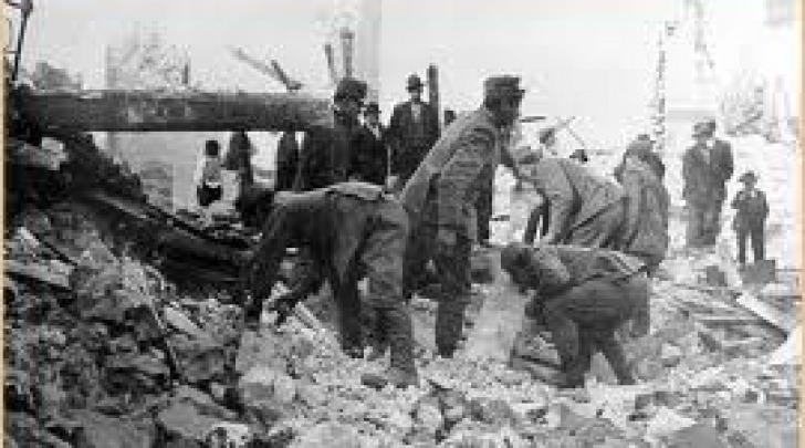 Un'immagine del disastroso sisma marsicano