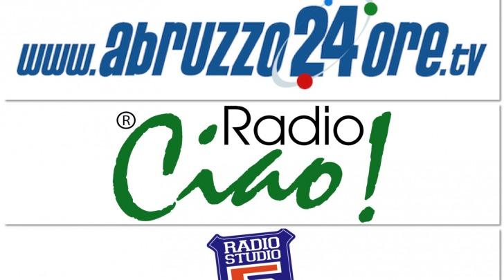 abruzzo24ore.tv, radio ciao e studio 5