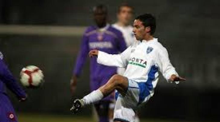 Roberto Guitto con la maglia dell'Empoli