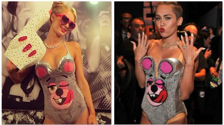 Paris Hilton travestita da Miley Cyrus