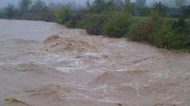 il fiume Vomano in piena
