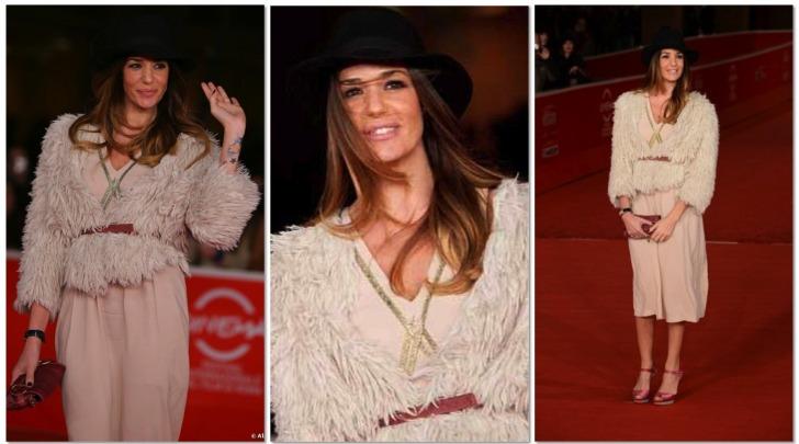 Alessia Fabiani red carpet di Roma