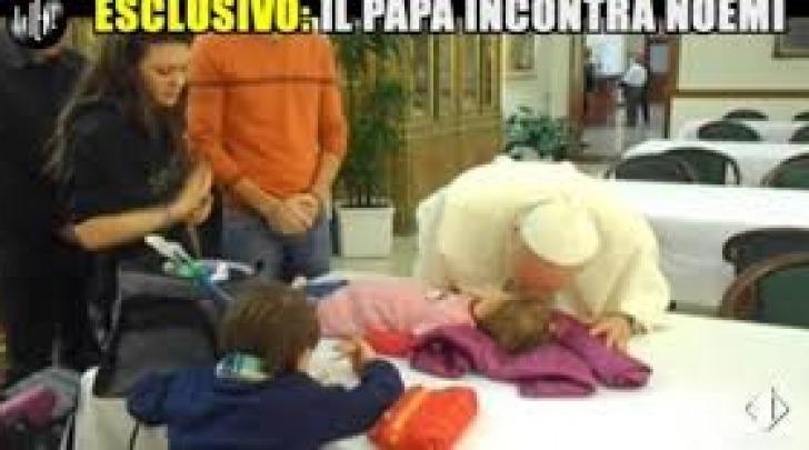 Noemi Sciarretta e Papa Francesco