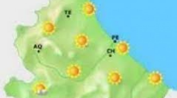 Cartina meteo-sereno su Abruzzo