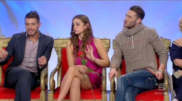 I tronisti Tommaso Scala, Aldo Palmieri, Anna Munafò