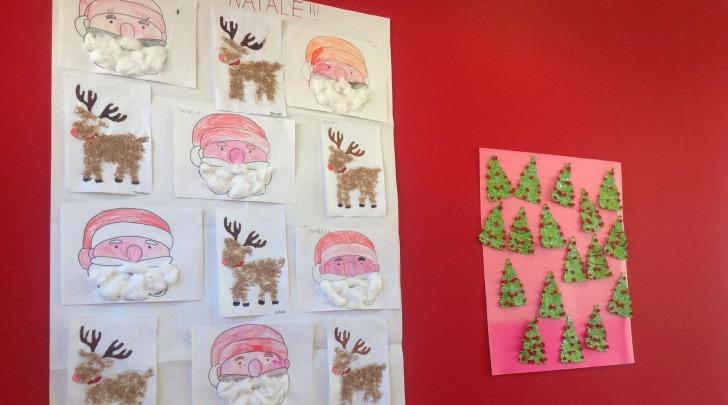 Un lavoro di Natale dei 90 bambini dell'Asilo di Bazzano