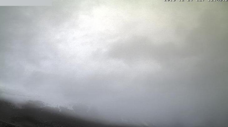 La foto della condizione meteo sul Gran Sasso