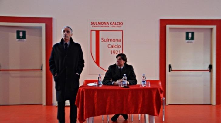 Grillo con Scelli alla conferenza stampa del Sulmona