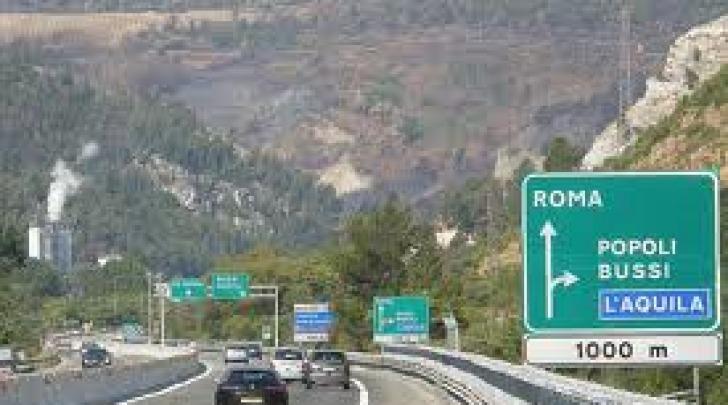 Un tratto dell'A25 Pescara-Roma