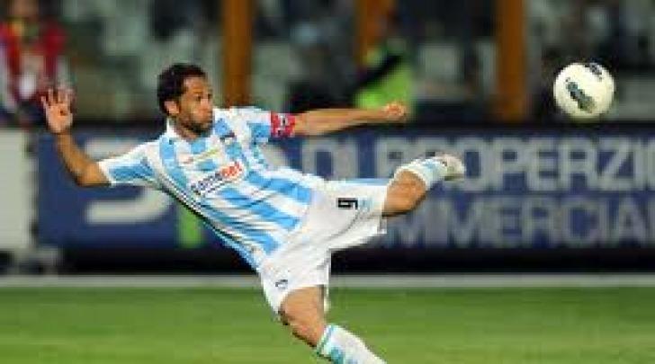 Marco Sansovini con la maglia del Pescara
