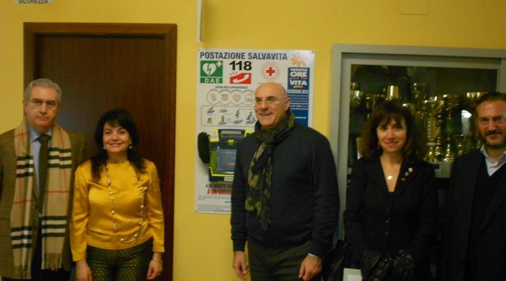 Il defibrillatore della scuola di via Pescara