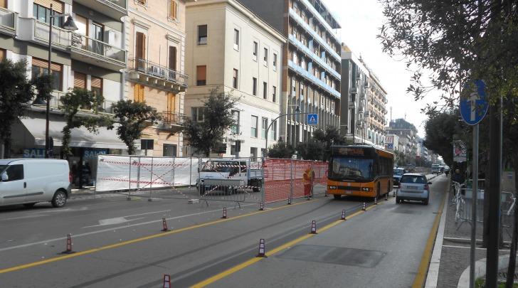 Corso Vittorio diviso a metà