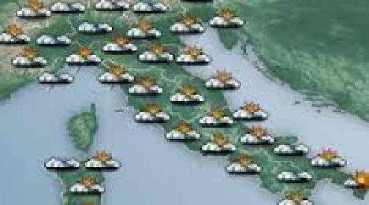 Cartina meteo- perturbazioni con schiarite