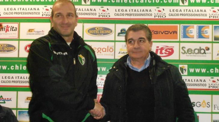 Tiziano De Patre col presidente Walter Bellia