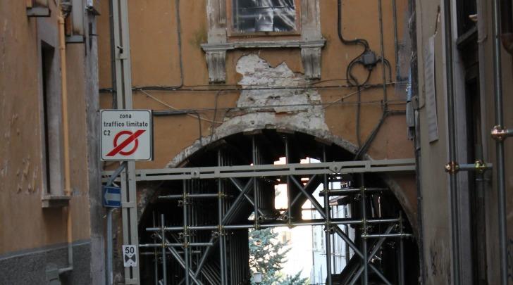 Particolare centro storico L'Aquila