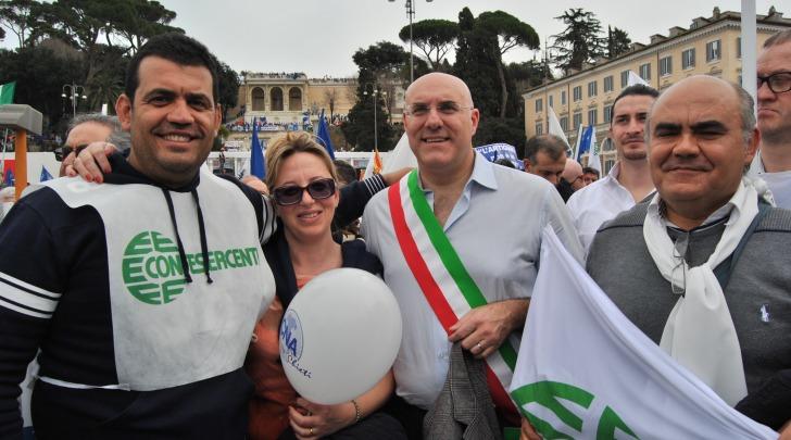 Manifestazione delle imprese a Roma
