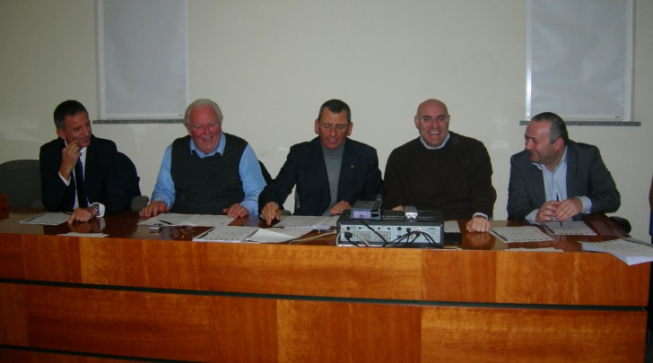 La sottoscrizione del Protocollo d'Intesa tra i sindaci