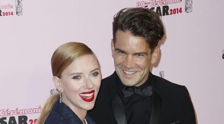 Scarlett Johannson e Romain Dauriac