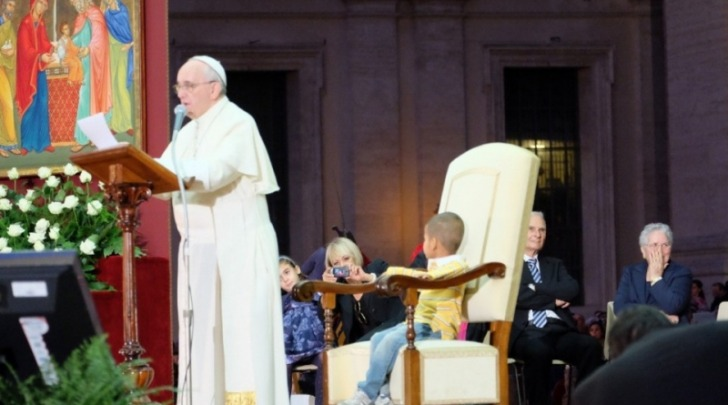 Didier Ferruccio e Papa Francesco
