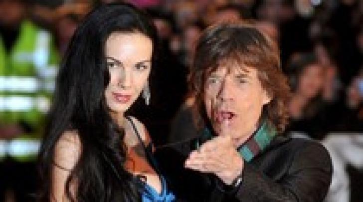 Wren Scott - Mick Jagger - foto ansa