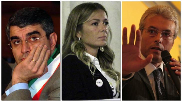 Luciano D'Alfonso, Sara Marcozzi e Gianni Chiodi
