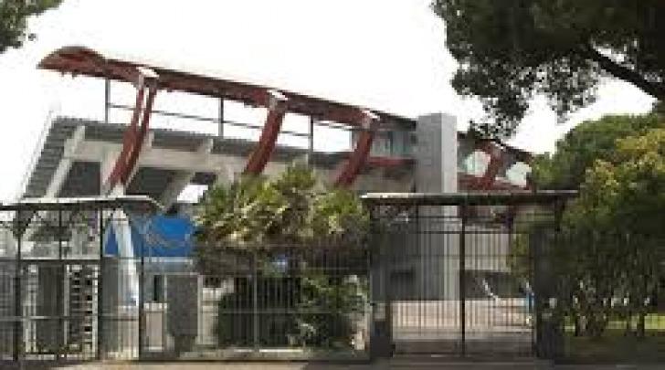 """La tribuna dello stadio """"Adriatico"""""""