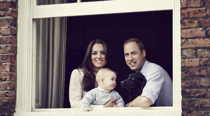 Kate Middleton, William, George e Lupo