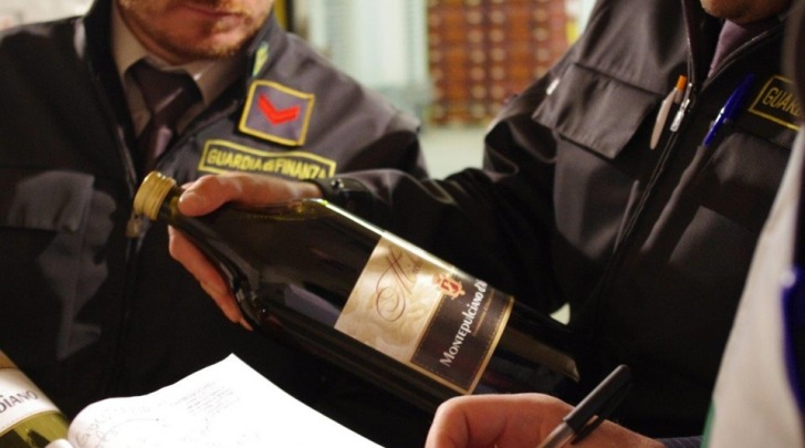 Sequestro vino contraffatto