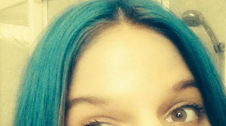 Chiara capelli blu